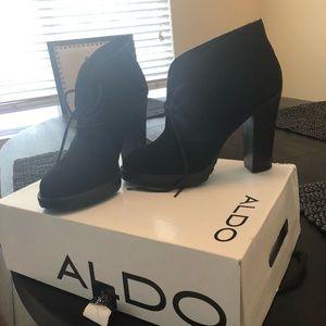 Black Aldo booties